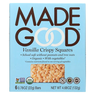 Made Good Crispy Squares - Vanilla - Case Of 6 - 4.68 Oz.