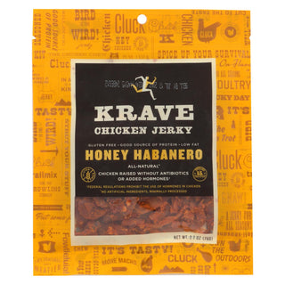 Krave Chicken Jerky - Honey Habanero - Case Of 8 - 2.7 Oz.