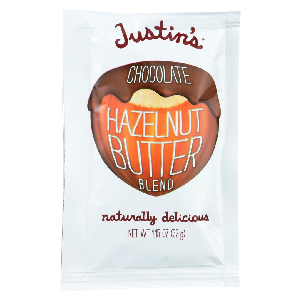 Justin's Nut Butter Squeeze Pack - Hazelnut Butter - Chocolate  - Case Of 10 - 1.15 Oz.