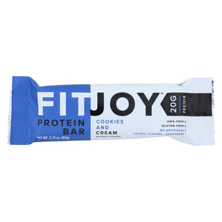 Fitjoy - Protein Bar - Cookies And Cream - Case Of 12 - 2.11 Oz.