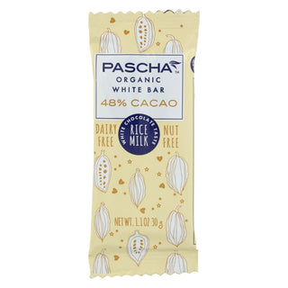 Pascha Organic Chocolate Bar - White Rice Milk - Case Of 15 - 1.1 Oz