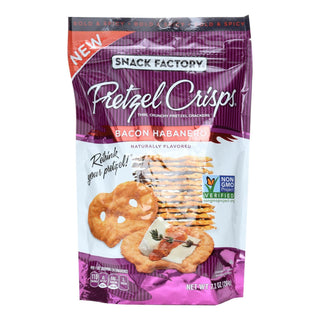 Snack Factory Bacon Habanero Pretzel Crisps  - Case Of 12 - 7.2 Oz