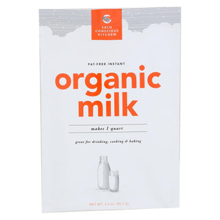 Saco Foods Dry Milk - Organic - Instant - Fat Free - Case Of 12 - 3.2 Oz