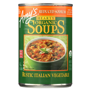 Amy's - Soup Organic Hearty Rustic Italian Vegetable - Case Of 12 - 14 Oz