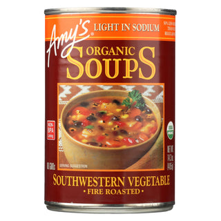 Amy's - Soup Organic Fire Roasted Southwestern Vegetable - Case Of 12 - 14.3 Oz
