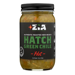 Zia Green Chile Company - Hatch Green Chile - Hot  - Case Of 6 - 16 Oz.