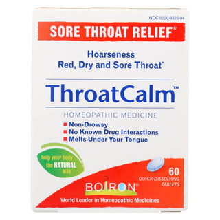 Boiron - Throatcalm - 60 Tab
