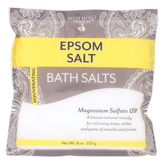 Soothing Touch Bath Salts - Unscentd Epsom - Case Of 6 - 8 Oz