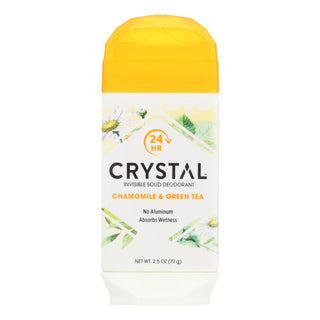 Crystal Deodorants - Invisible Solid Deodorant - Chamomile And Green Tea - 2.5 Oz.
