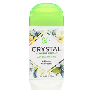 Crystal Deodorants - Invisible Solid Deodorant - Vanilla Jasmine - 2.5 Oz.