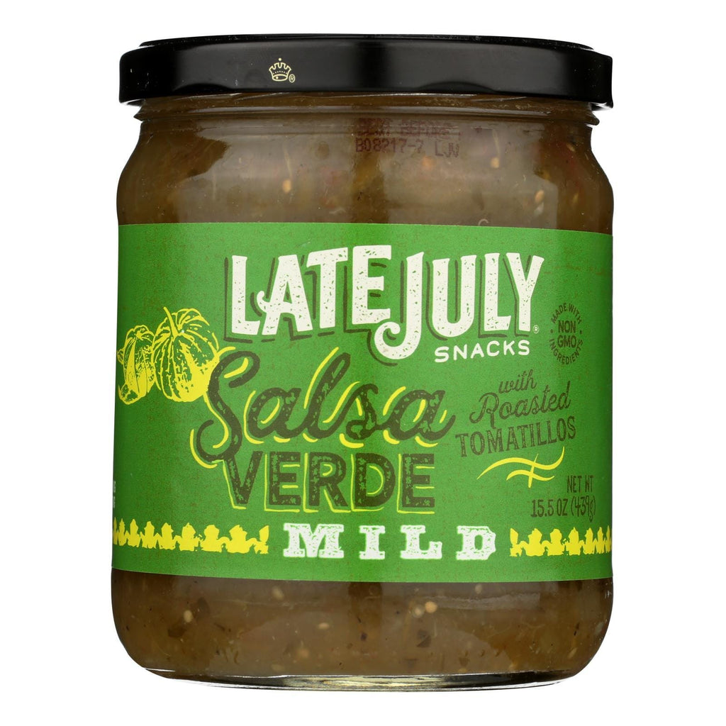 Late July Snacks Salsa - Verde - Case Of 12 - 15.5 Oz.