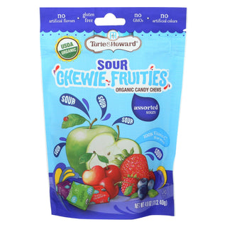 Torie And Howard - Chewy Fruities Organic Candy Chews - Sour Assorted - Case Of 6 - 4 Oz.