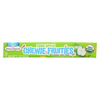 Torie And Howard - Chewy Fruities Organic Candy Chews - Sour Apple - Case Of 18 - 2.1 Oz.