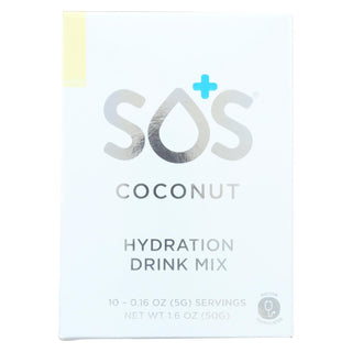 Sos Hydration - Drink Mix - Coconut - Case Of 5 - 10-0.16 Oz.