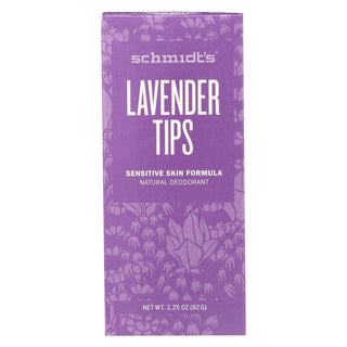 Schmidt's Natural Deodorant Stick - Lavender Tips - 3.25 Oz