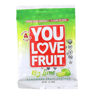 You Love Fruit Key Lime Handmade Fruit Leather  - Case Of 12 - 1 Oz