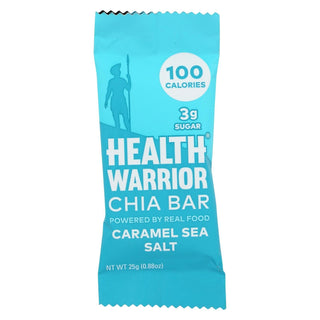 Health Warrior Chia Bar - Caramel Sea Salt - Case Of 15 - .88 Oz