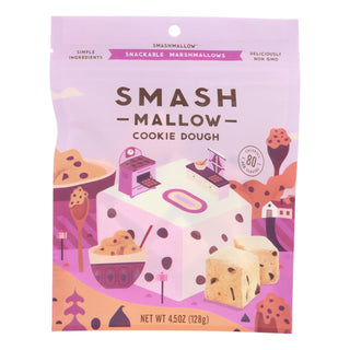 Smashmallow Snackable Marshmallows - Cookie Dough - Case Of 12 - 4.5 Oz