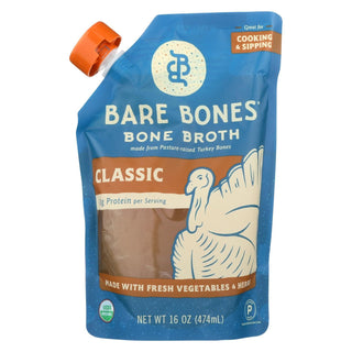 Bare Bones Broth - Bone Broth - Organic Turkey - Case Of 6 - 16 Fl Oz.