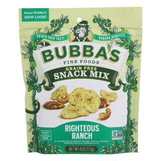 Bubba's Fine Foods Righteous Ranch Snack Mix  - Case Of 6 - 4 Oz