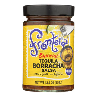 Frontera Foods Salsa - Especial Tequila Borracha Salsa - Black Garlic And Cascabel - Case Of 6 - 12.5 Oz.