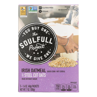 The Soulfull Project - Hot Cereal Oatmeal Irish Gluten Free - Case Of 6 - 7 Oz