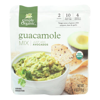 Simply Organic Spicy Guacamole Mix - Case Of 6 - 4 Oz
