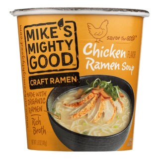 Mike's Mighty Good Chicken Ramen Soup - Case Of 6 - 1.6 Oz