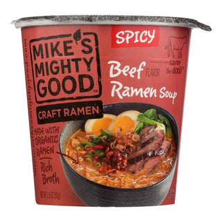 Mike's Mighty Good Spicy Beef Ramen Soup - Case Of 6 - 1.8 Oz
