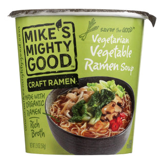 Mike's Mighty Good Vegetarian Vegetable Ramen Soup - Case Of 6 - 1.9 Oz