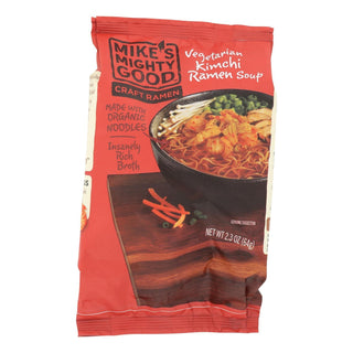Mike's Mighty Good Vegetarian Kimchi Ramen Soup - Case Of 7 - 2.3 Oz