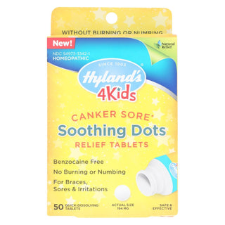 Hylands Homeopathic - 4kids Cnker Sore Relief - 1 Each - 50 Tab