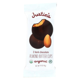 Justin's Nut Butter Almond Butter Cups - Dark Chocolate - Case Of 12 - 1.4 Oz.