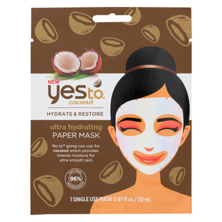 Yes To - Coconut - Ultra Hydrating Paper Mask - Case Of 6 - 0.67 Fl Oz.