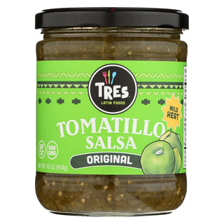 Tres Latin Foods - Tomatillo Salsa - Original - Mild Heat - Case Of 6 - 16 Oz.
