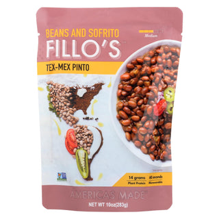 Fillo's Beans - Tex Mex Pinto - Case Of 6 - 10 Oz.