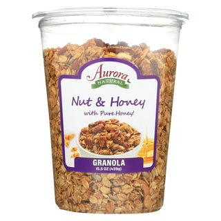 Aurora Natural Products - Nuts And Honey Granola - Case Of 12 - 15.5 Oz.