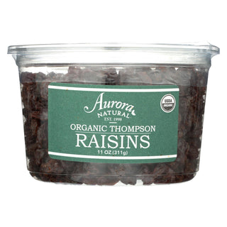 Aurora Natural Products - Organic Thompson Raisins - Case Of 12 - 11 Oz.