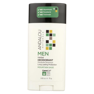 Andalou Naturals - Deodorant - Men's Herbal - 2.65 Oz.