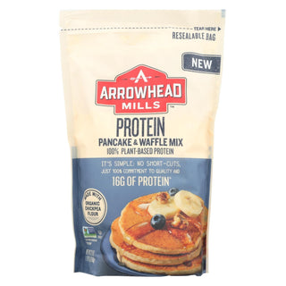 Arrowhead Mills - Pancake And Waffle Mix - Protein - Case Of 6 - 22 Oz.