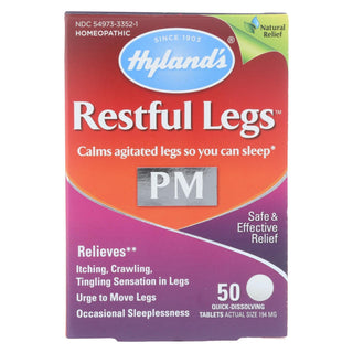 Hylands Homeopathic - Restful Legs Pm - 50 Tab