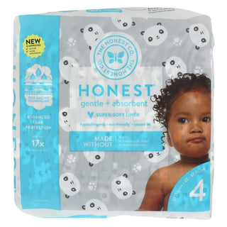 The Honest Company - Diapers Size 4 - Pandas - 23 Count
