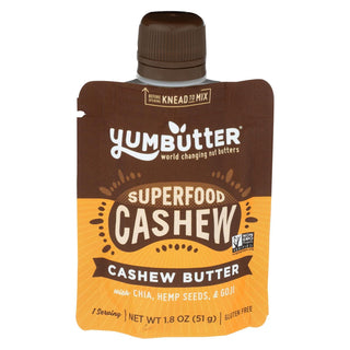 Yumbutter - Cashew Butter Superfood - Case Of 10 - 1.8 Oz