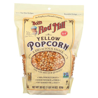 Bob's Red Mill - Popcorn - Yellow - Case Of 4 - 30 Oz.