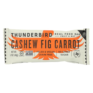 Thunderbird - Real Food Bar - Cashew Fig Carrot - Case Of 15 - 1.7 Oz.