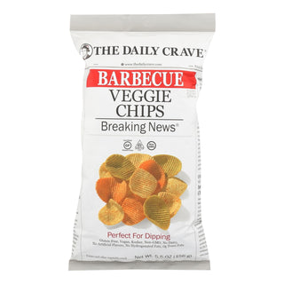 The Daily Crave - Veggie Chips Bbq - Case Of 8 - 5.5 Oz