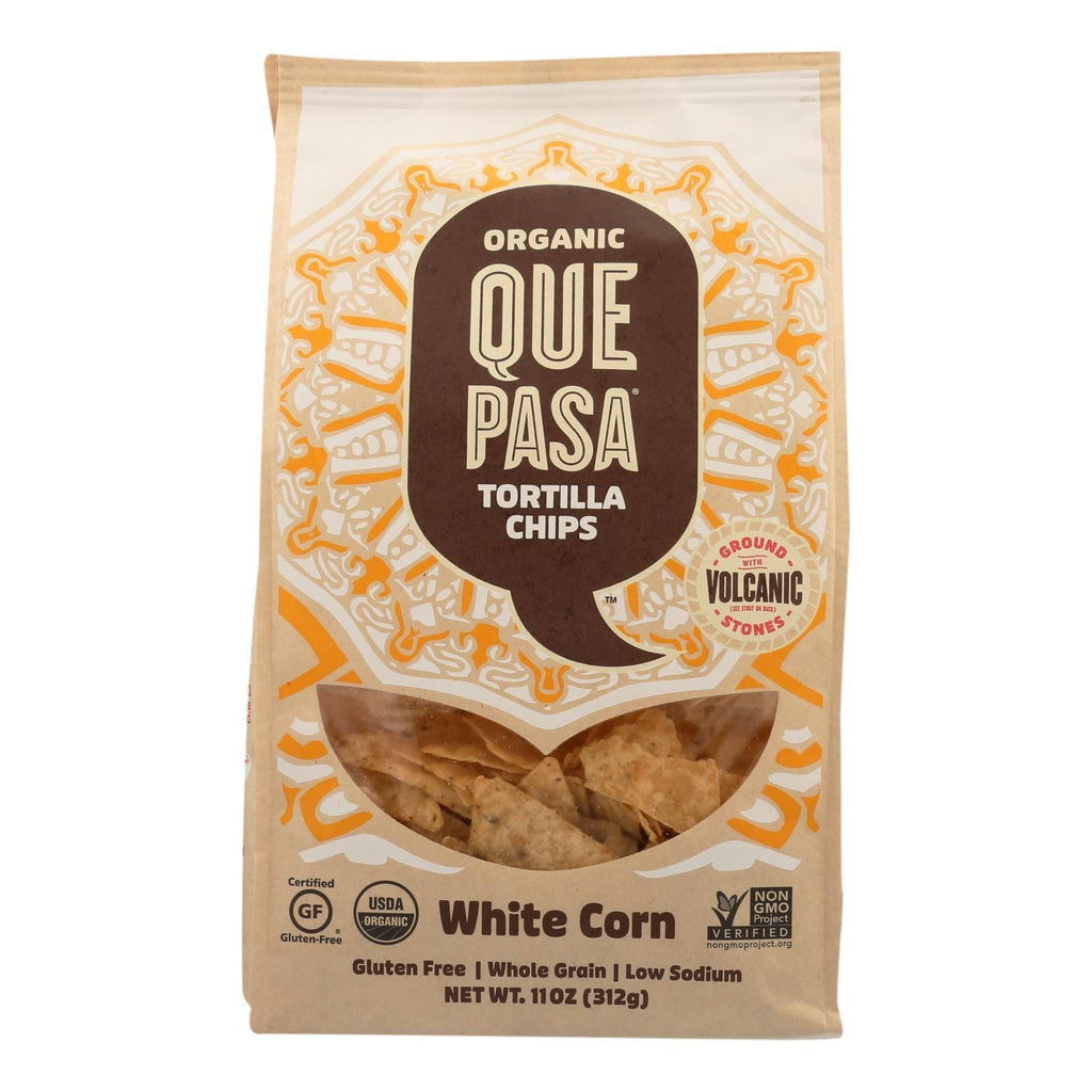 Que Pasa - Corn Chips White - Case Of 12 - 11 Oz
