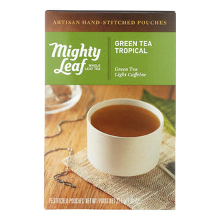 Mighty Leaf Tea - Tea Green Tropical Stched - Case Of 6 - 15 Bag
