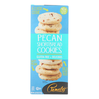 Pamela's Products - Cookies - Pecan Shortbread - Gluten-free - Case Of 6 - 6.25 Oz.