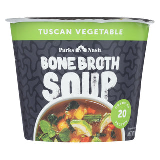 Bone Broth Soup - Soup Cup - Tuscan Vegetable - Case Of 6 - 1.23 Oz.